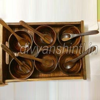 Wooden Bowl Set
