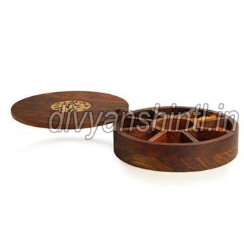 Wooden Round Dry Fruit Box