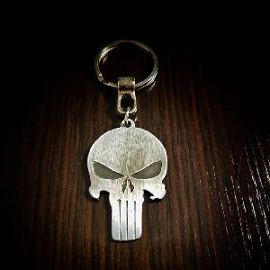 Punisher Metallic Keychain