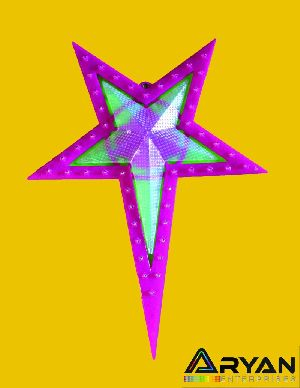 Pink Christmas Stars 01
