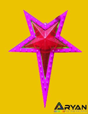Pink Christmas Stars 05