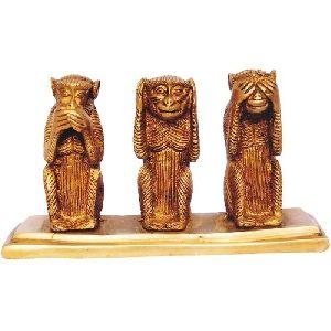 Brass Three Monkey Set