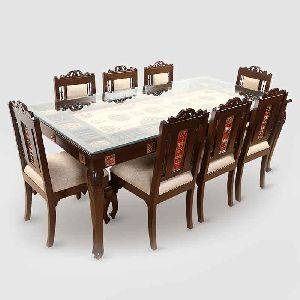 Teak Wood 8 Seater Dining Table