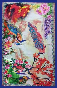 Silk Dupatta Digital Print