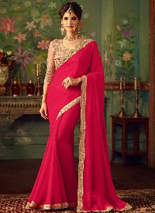Plain Georgette Sarees