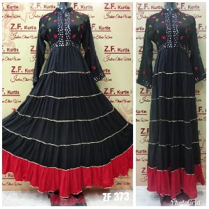 Rayon Fabric Long Dress