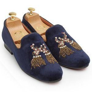 3d Dancing Tassel Navy Blue Shoes