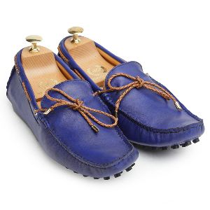 Gommino Blueberry Leather Loafers