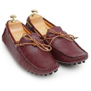 Gommino Wine Leather Loafers