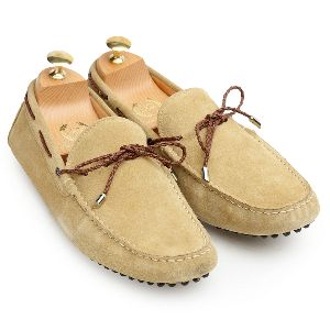 Gommino Beige Suede Loafers