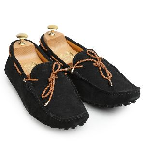 Gommino Black Suede Loafers