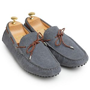Gommino Grey Suede Loafers