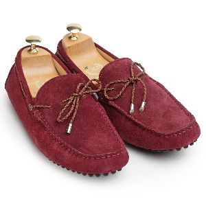 Gommino Wine Suede Loafers