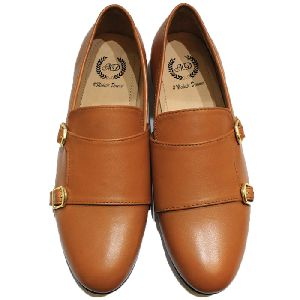 Genuine Leather Oxford Single Monk Shoes