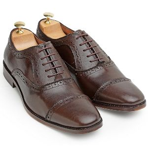 Pure Leather Oxford Brown Shoes