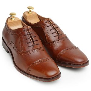 Pure Leather Oxford Chocolatey Shoes