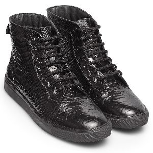 Synthetic Non Leather High Top Sneakers