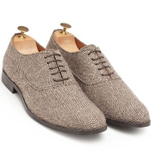 Tweed Oxford Shoes