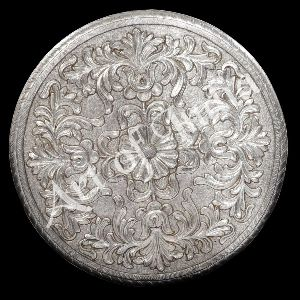 Silver Chowki With Carving