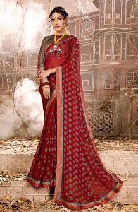 Brasso Printed Fancy Regular Wear Saree