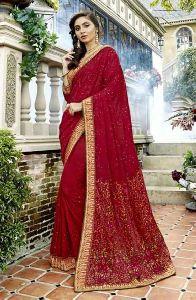 Designer Wedding Wear Georgette Saree