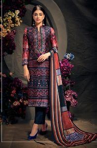 Digital Printed Straight Cut Pure Silk Salwar Suit