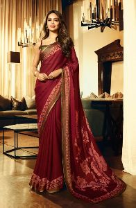 Esha Gupta New Designer Party Wear Fancy Saree