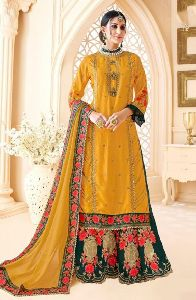 eb4dc55034a49 Designer Sharara Suit in Surat - Manufacturers and Suppliers India