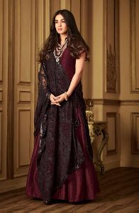 Sonal Chauhan Style Designer Party Wear Salwar Suit