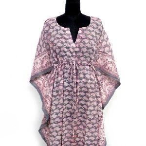 Block-printed Loungewear Cotton Kaftan