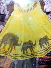 Fashionable Floral Print Yellow Color Rayon Fabric Dress