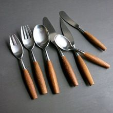 Stainless Steel Cutlery With Wood Handle