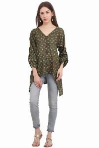 Cotton Printed Women Full Sleeve Top
