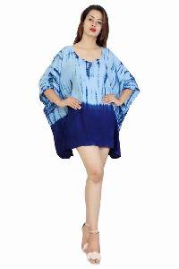 Rayon Tie Dye Beachwear Kaftan