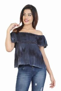 Women Regular Rayon Tie Dye Tops
