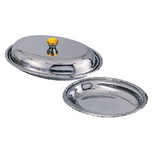Stainless Steel Oval Carry Dish