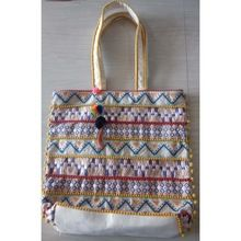 Embroidery cotton shoulder women men handmade fashion bag