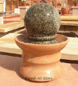 Black Ball Rotating Fountain