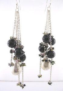 Sterling Silver With Beaded Gemstone Earrings