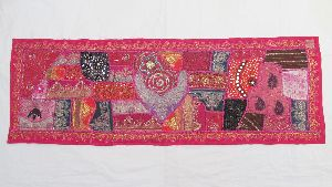 Traditional Ethnic Beads Work Decorative Table Runner