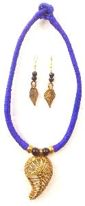 Handcrafted Designer Dokra Necklace Tribal Jewelry