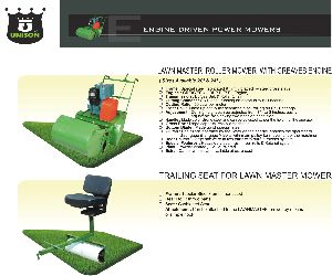 Diesel Engine Lawn Mower With Trailing Seat