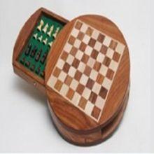 Natural Wood Made Chess Board