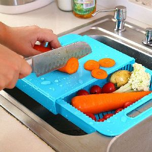 Kawachi 3 In 1 Kitchen Sink Cutting Board