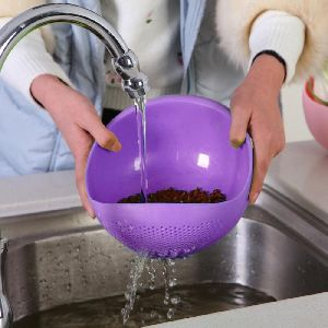 Kitchen Wash Rice Thick Sieve Pot Plastic Drain Vegetable Basket