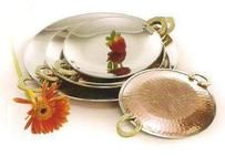 Copper Steel Serving Platters With Brass Handle