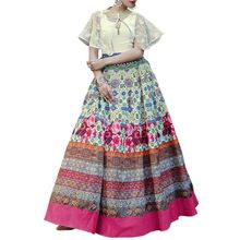 Multi Color Georgette Indo Western Dress