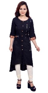 Trendy High Low Hemline Kurti