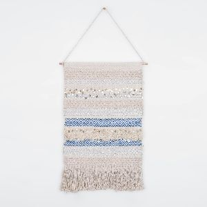 Handmade Flat Weave Rug Wall Hanging