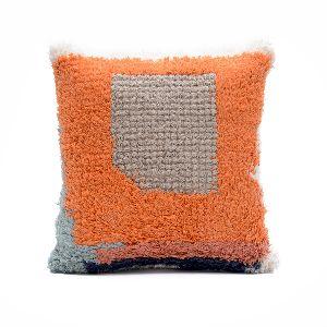 Modern Woven Wool Shaggy Cushion Cover